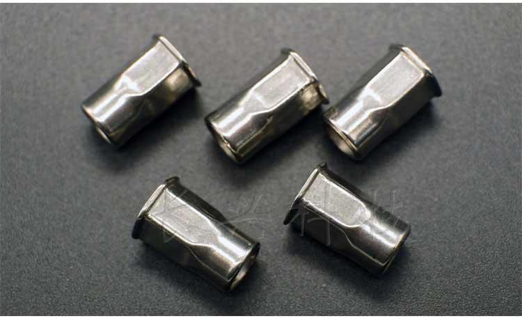 不锈钢小头半六角拉铆螺母产品真实照