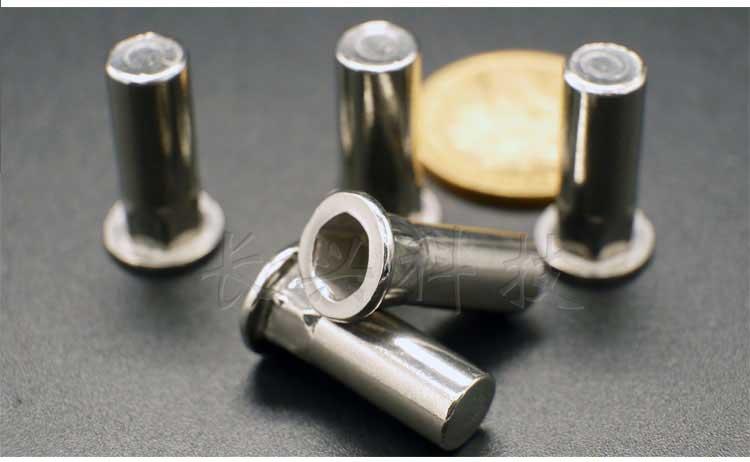 不锈钢平头半六角盲端拉铆螺母产品实物图